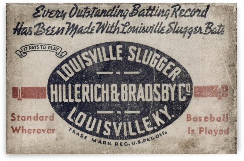 1939 Louisville Slugger Tin Look Ad Art by Row One Brand