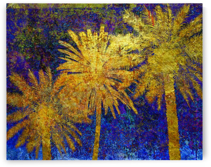 Three Golden Palms by Lawrence Costales