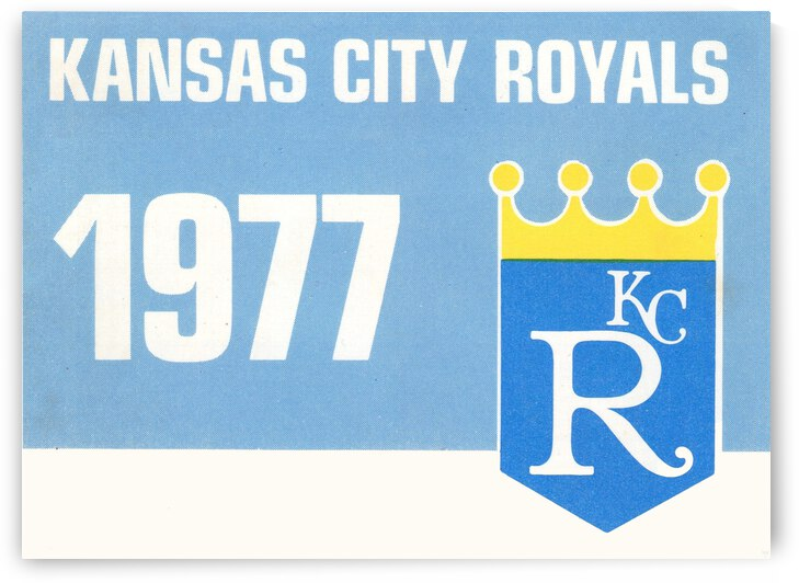 1977 Kansas City Royals Baseball Art by Row One Brand