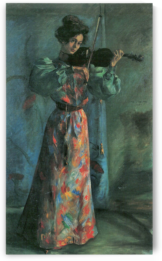 The violin player by Lovis Corinth by Lovis Corinth