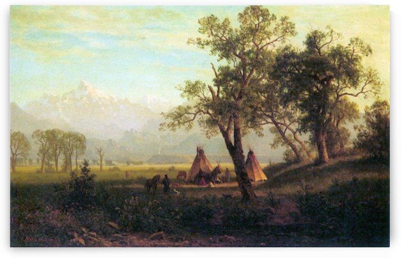 Wind River Mountains in Nebraska by Bierstadt by Bierstadt