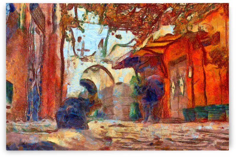 China Xinjiang Kashgar inVincent Willem van Goghstyle. 20 by ArtEastWest