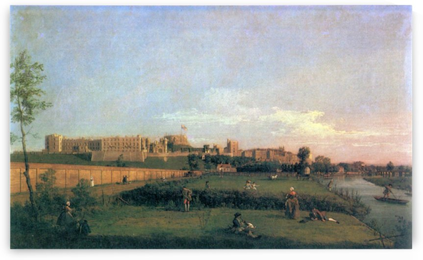 Windsor Castle by Canaletto by Canaletto