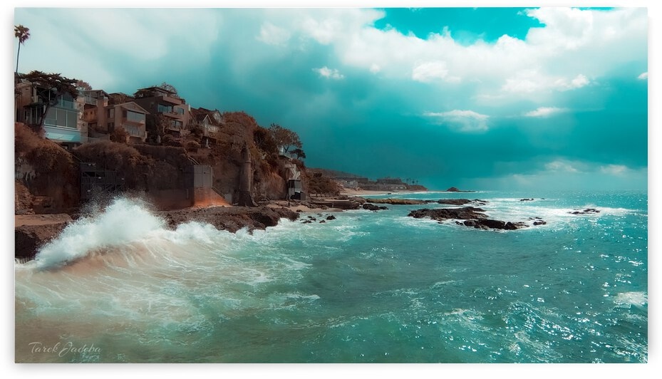 Victoria Beach Laguna Beach  by EYES IN THE SKY