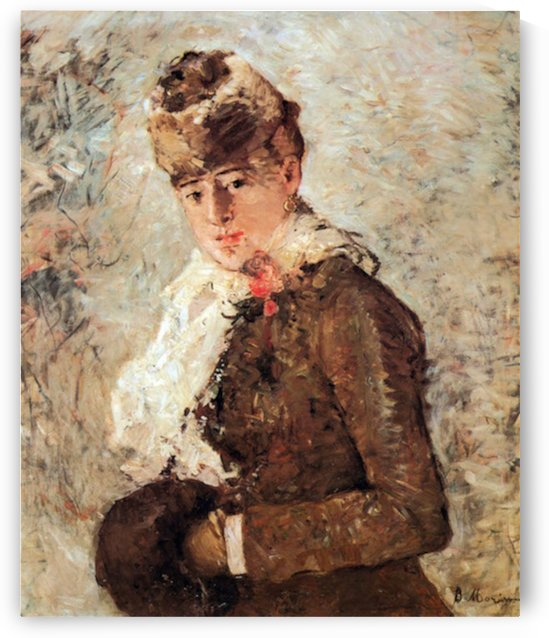 Winter (woman with Muff) by Morisot by Morisot