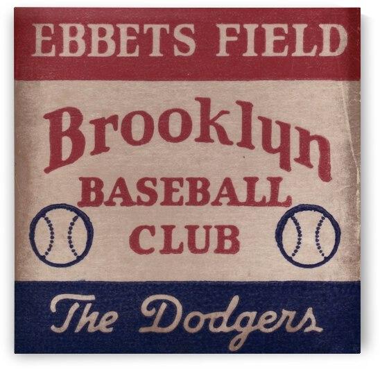1939 Brooklyn Dodgers Ebbets Field Art by Row One Brand