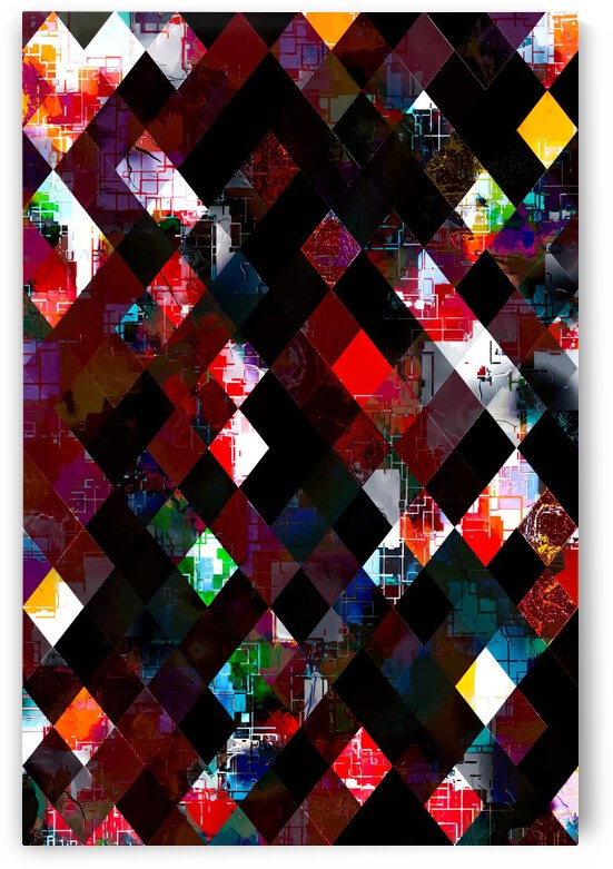 geometric pixel square pattern abstract background in red by TimmyLA