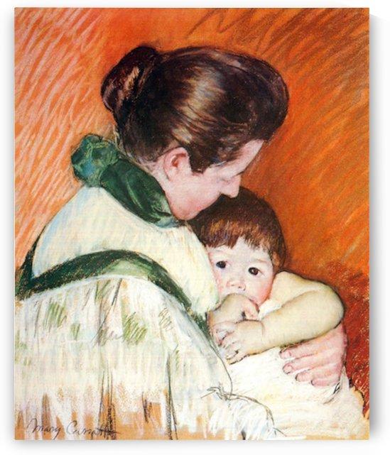 Woman and Child by Cassatt by Cassatt
