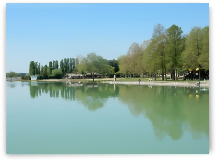 Along The Lakeside at Castiglione del Lago by Dorothy Berry-Lound