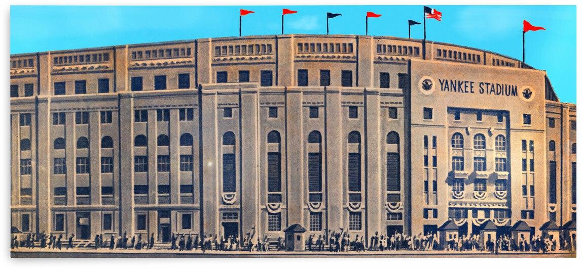 1962 Yankee Stadium Art by Row One Brand