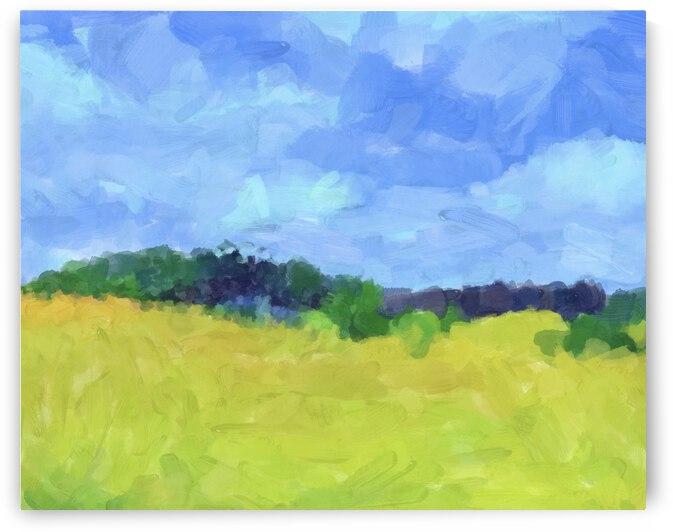 Parkton Landscape in Spring Green by Sarah Butcher