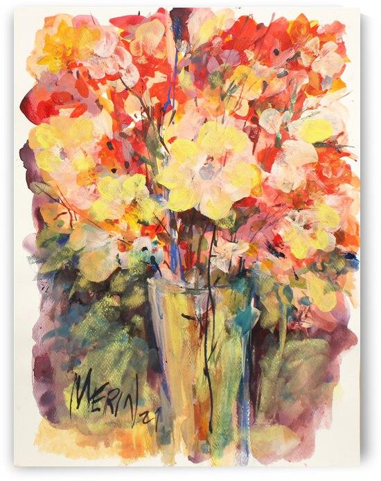Wildflowers in a vase 3 by Artstudio Merin