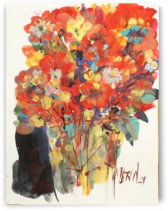 Wildflowers in a vase 7 by Artstudio Merin