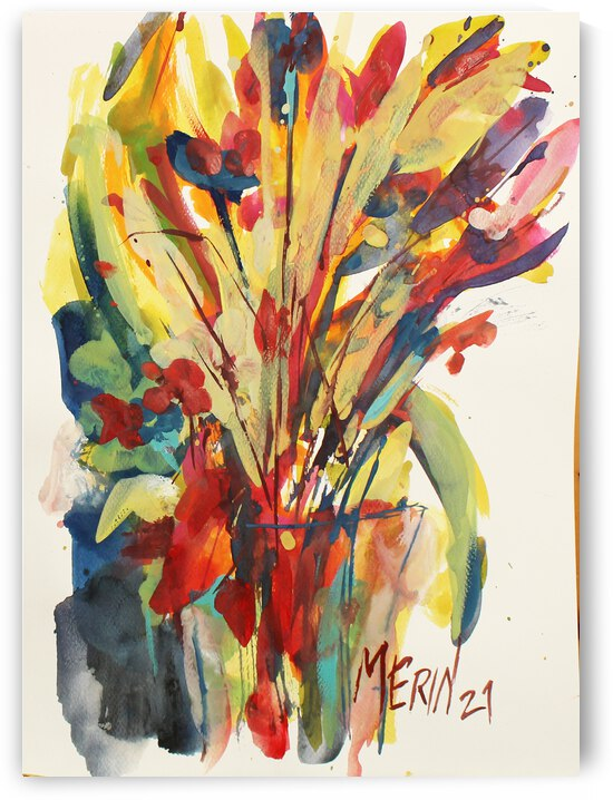 Wildflowers in a vase 8 by Artstudio Merin