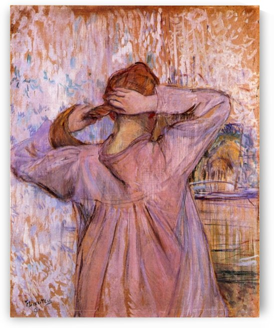 Woman Combing her hair by Toulouse-Lautrec by Toulouse-Lautrec