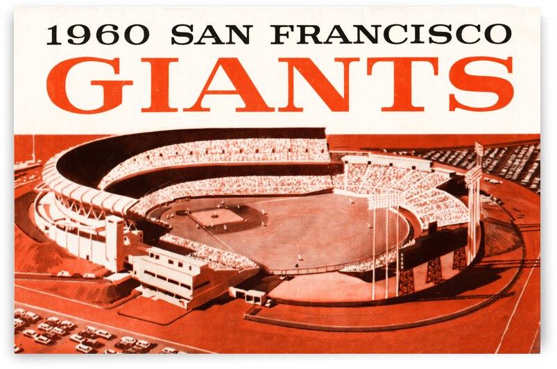 1960 San Francisco Giants Art  by Row One Brand