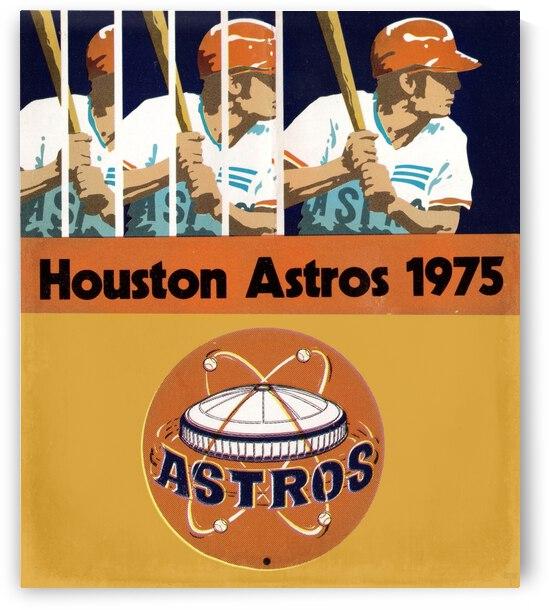 1975 Houston Astros Baseball Art by Row One Brand