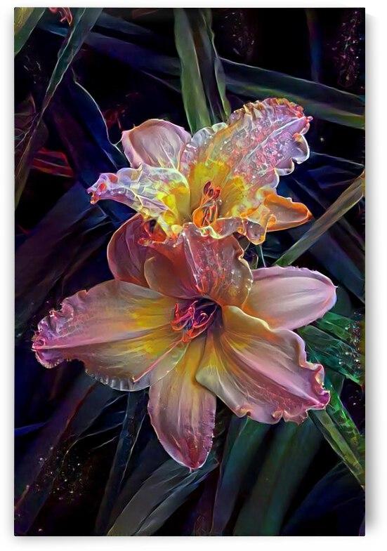 Iridescent Lilies 02 by Wacholtz