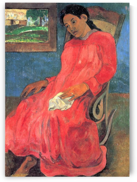 Woman in Red Dress by Gauguin by Gauguin