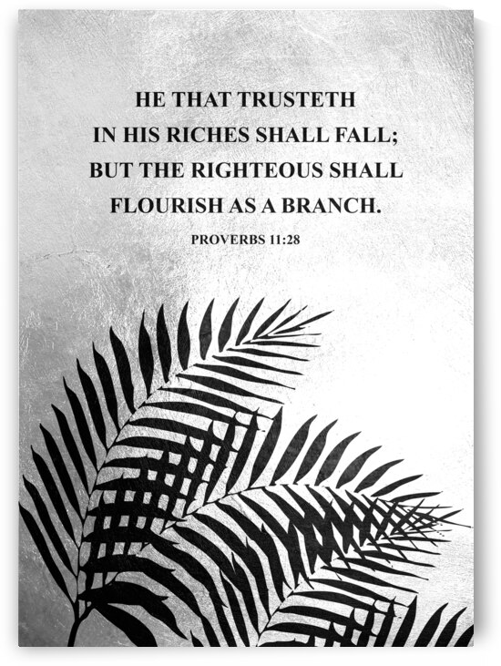 Proverbs 11:28 Bible Verse Wall Art by ABConcepts