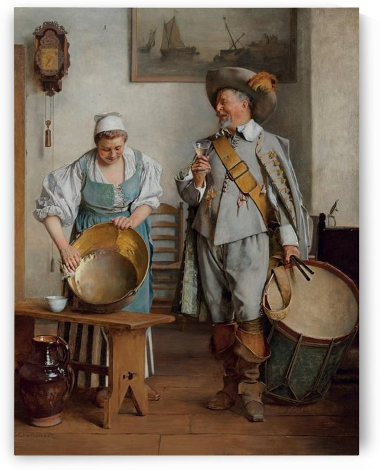 A Drink for the Drummer, 1889 by Eduard Charlemont