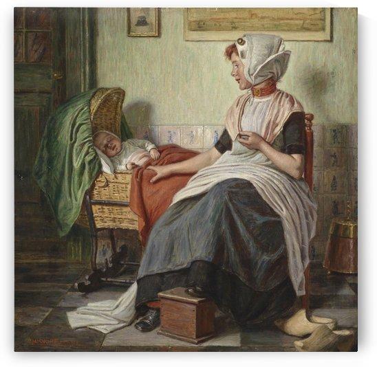 Dutch Fisherwoman with Child by Eduard Charlemont