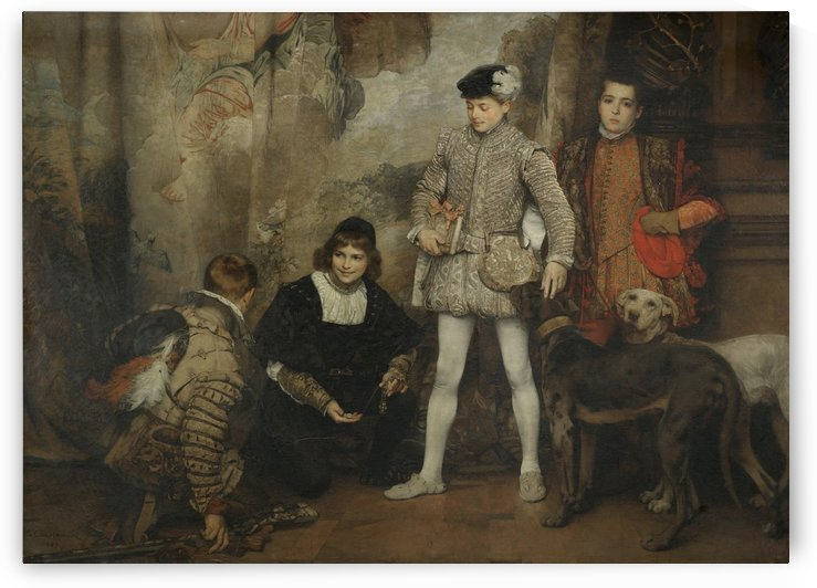Royal figures by Eduard Charlemont