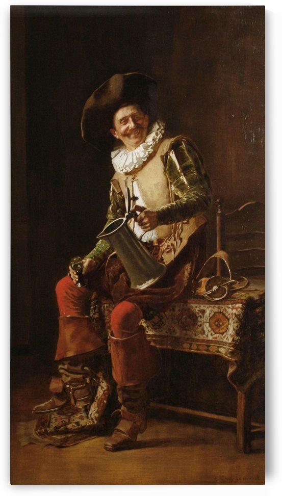 Man drinking by Eduard Charlemont
