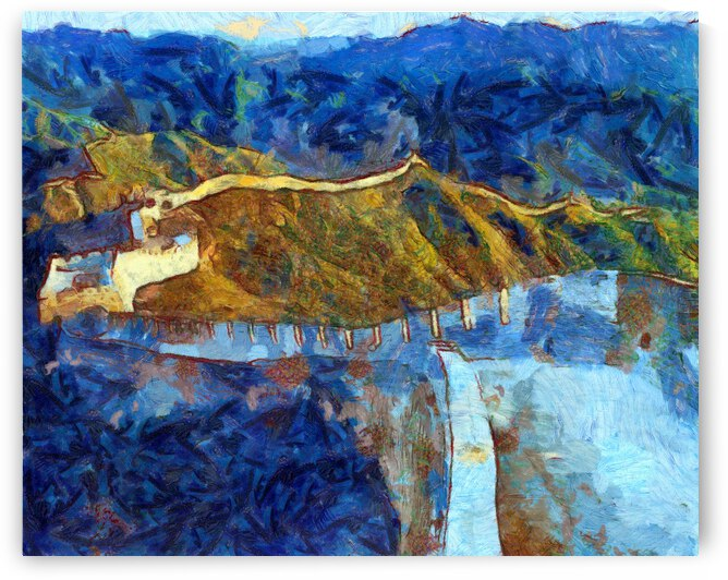 CHINA GREAT WALL OIL PAINTING IN VINCENT VAN GOGH STYLE. 76. by ArtEastWest