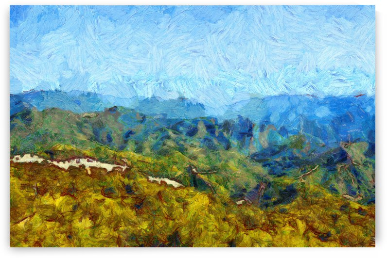 CHINA GREAT WALL OIL PAINTING IN VINCENT VAN GOGH STYLE. 57. by ArtEastWest