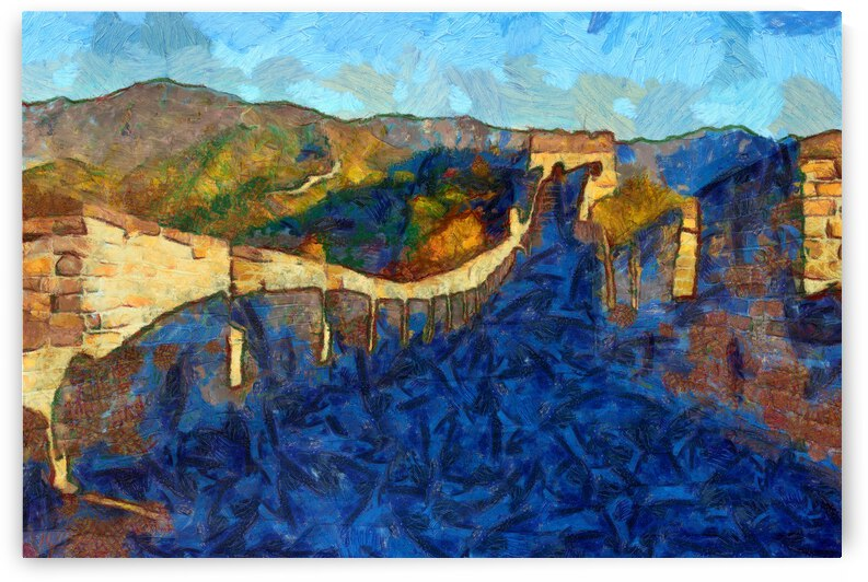 CHINA GREAT WALL OIL PAINTING IN VINCENT VAN GOGH STYLE. 65. by ArtEastWest