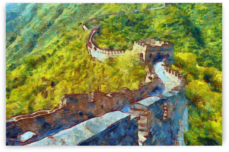 CHINA GREAT WALL OIL PAINTING IN VINCENT VAN GOGH STYLE. 68. by ArtEastWest