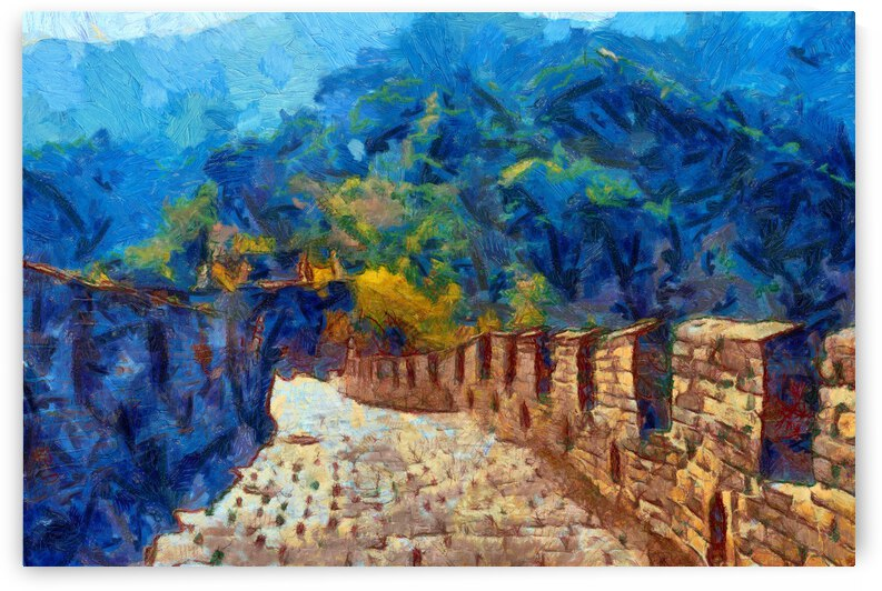 CHINA GREAT WALL OIL PAINTING IN VINCENT VAN GOGH STYLE. 66. by ArtEastWest