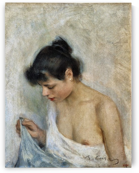 Beautiful young woman by Ramon Casas i Carbo