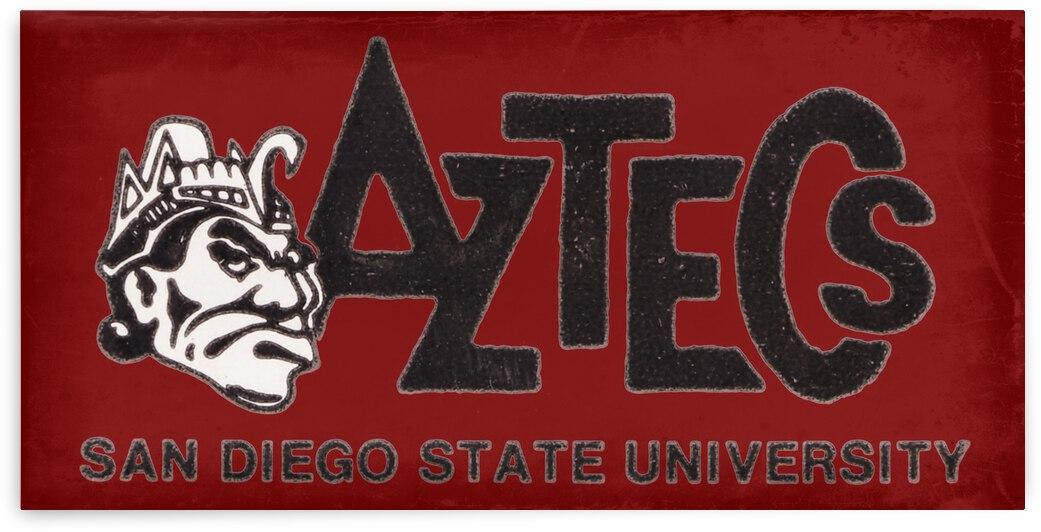 Retro San Diego State Aztecs Art by Row One Brand