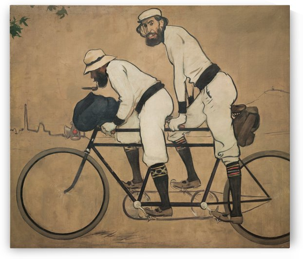 Ramon Casas and Pere Romeu on a Tandem by Ramon Casas i Carbo