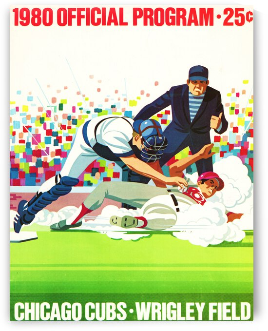 1980 Chicago Cubs Program Canvas Art by Row One Brand