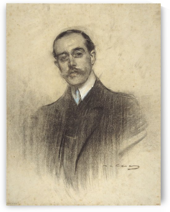Portrait of Eduard Calvet by Ramon Casas i Carbo