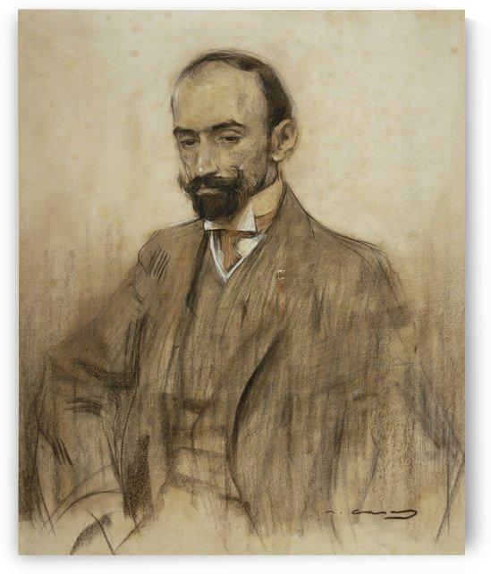 Portrait of Jacinto Benavente by Ramon Casas i Carbo