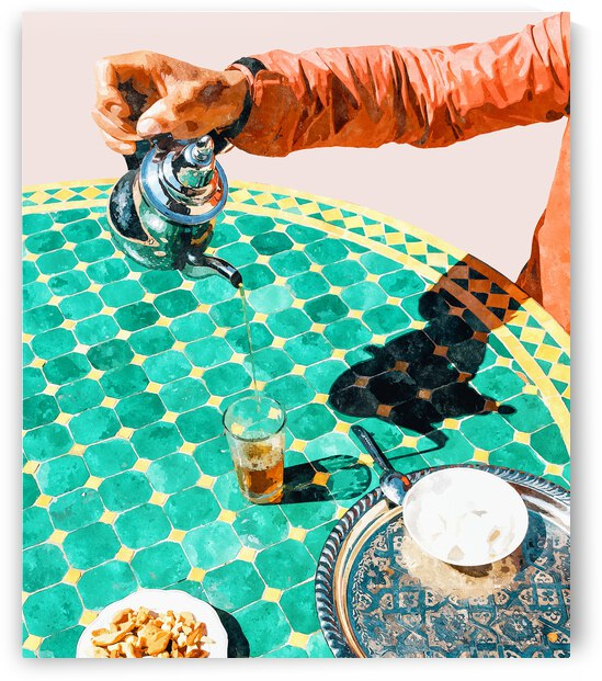 Chai India Culture & People Painting Exotic Travel Places Tea Bohemian Colorful Morocco Turkish by 83 Oranges