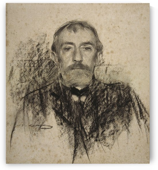 Portrait of Henry Lerolle by Ramon Casas i Carbo