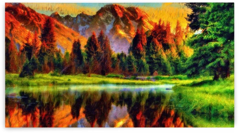 Mountain Lake  by Angel Photo Art