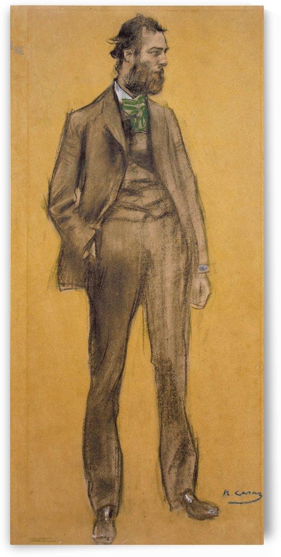 Portrait of Ramon Pichot by Ramon Casas i Carbo