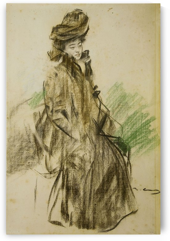 Portrait of Sada Yacco by Ramon Casas i Carbo