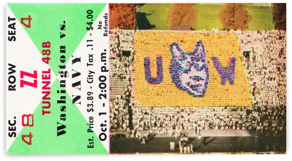 1960 Washington vs. Navy Football Ticket Canvas by Row One Brand