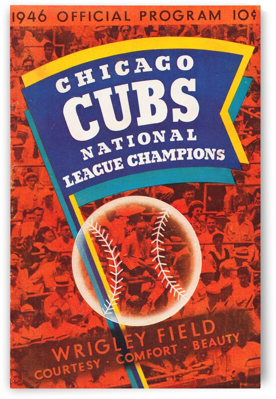 1946 Chicago Cubs Program Canvas Art by Row One Brand