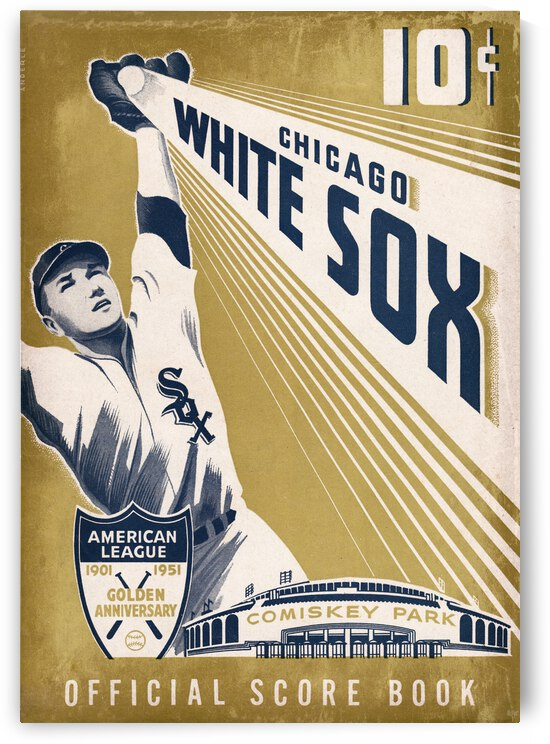 1951 Chicago White Sox Score Book Art by Row One Brand