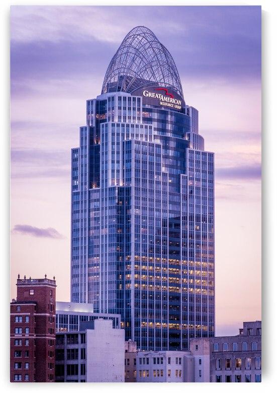 Great American Tower Sunset - Cincinnati - Ohio by Gary Whitton