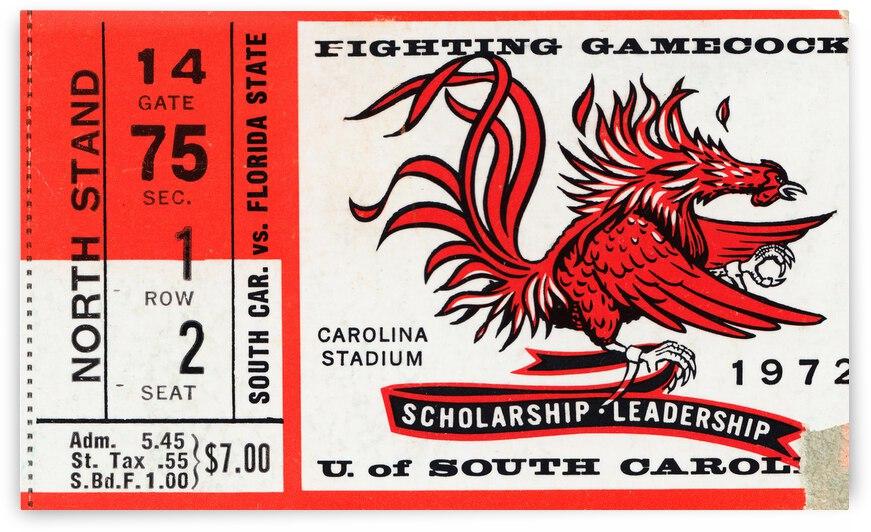 1972 South Carolina vs. Florida State by Row One Brand