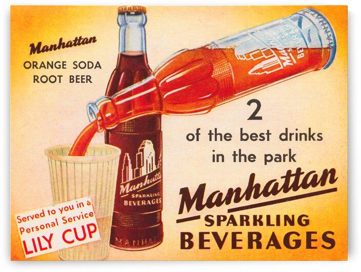 1946 Manhattan Beverage Advertisement Poster by Row One Brand